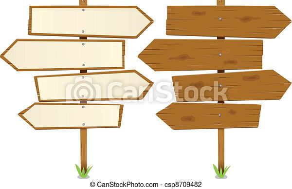 Arrows Wooden Sign - csp8709482