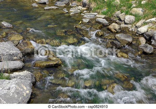 Un arroyo balbuceo - csp0824910