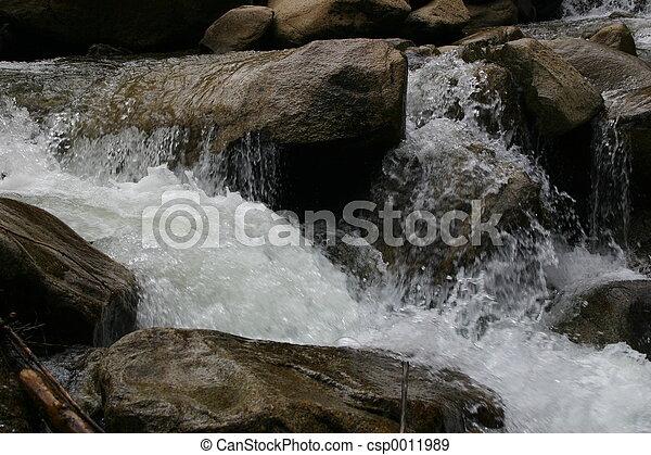 Un arroyo balbuceo - csp0011989