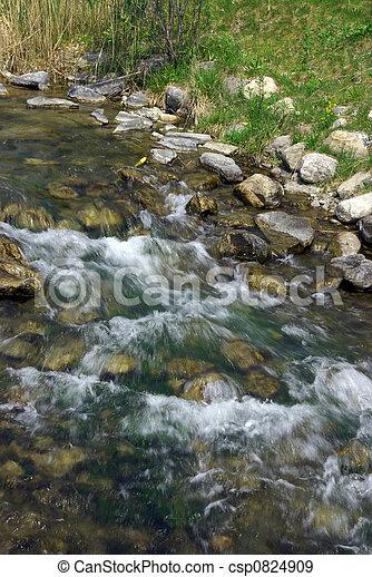 Un arroyo balbuceo - csp0824909