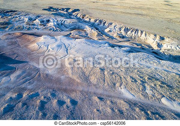 arroyo in northern Colorado prairie - csp56142006