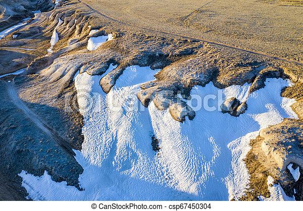 arroyo in northern Colorado prairie - csp67450304
