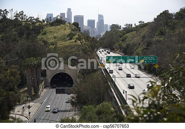 Arroyo Seco Parkway Stock Photo - csp56707653