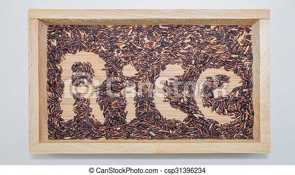 arroz, pretas, chão - csp31396234