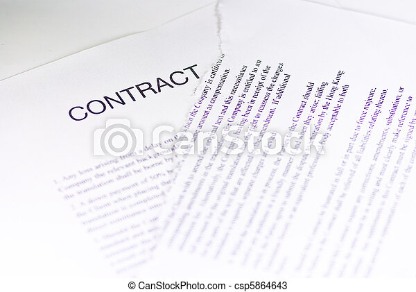 Contrato arrugado - csp5864643