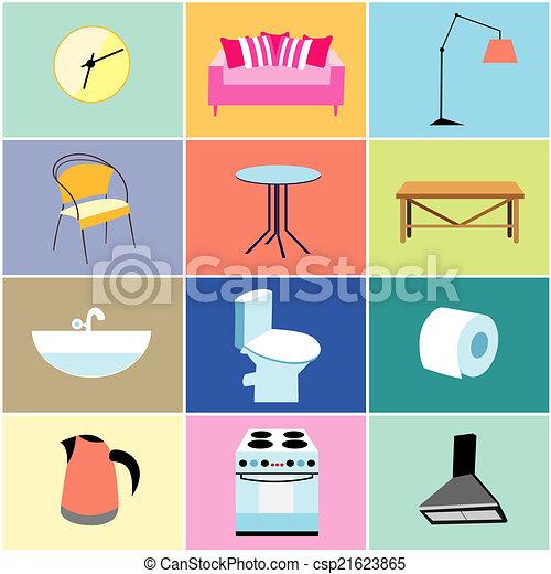 Art culos casa misc muebles conjunto coloreado casa for Articulos de casa