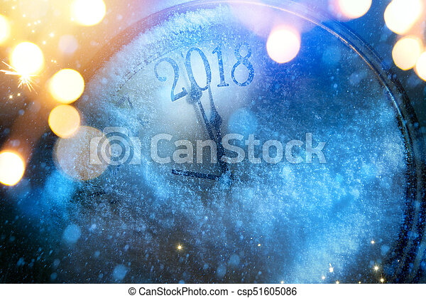 art 2018 happy new years eve background - csp51605086