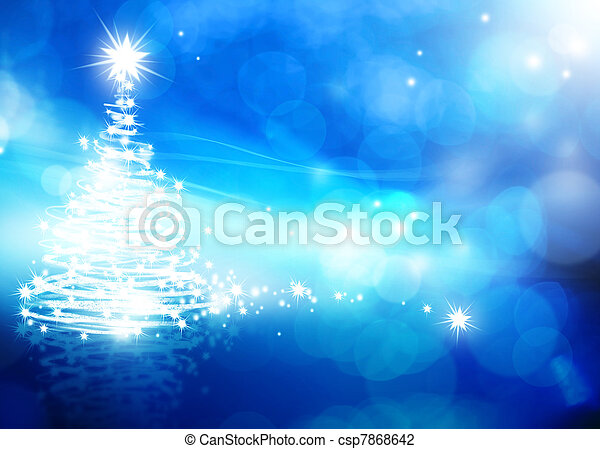 art abstract christmas blue background - csp7868642