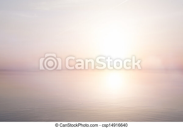 art abstract light  sea summer background - csp14916640