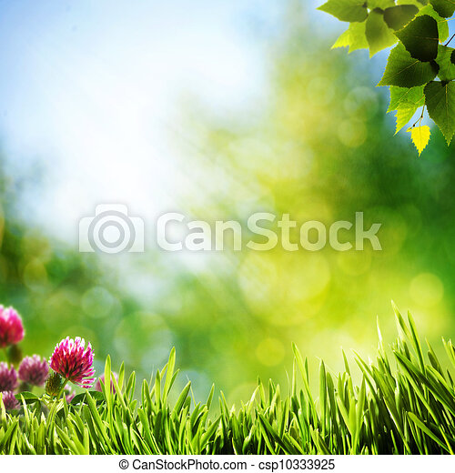 Art abstract natural backgrounds with beauty bokeh - csp10333925
