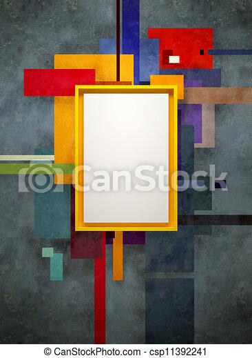 art abstrait, musée, composition - csp11392241