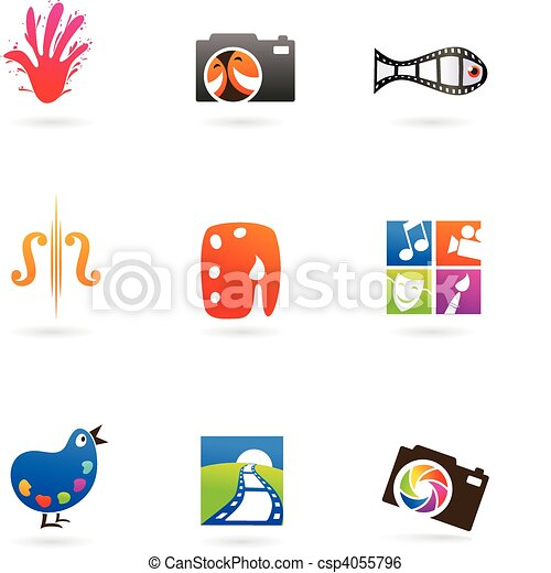 Art and photo icons - csp4055796