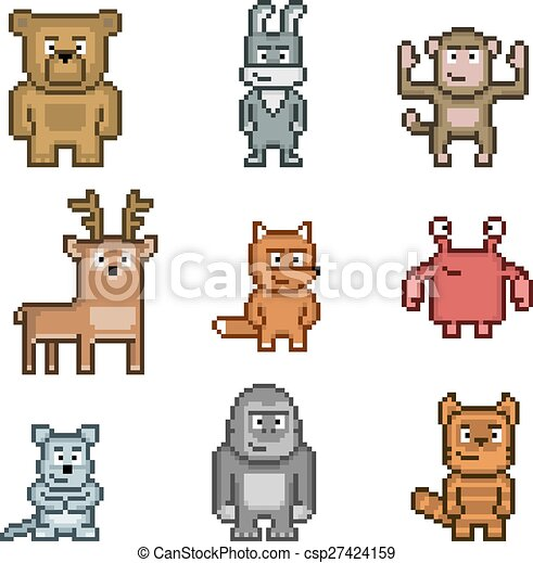 Art Animaux Pixel Collection