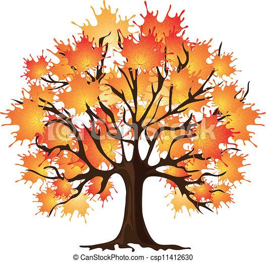 Art autumn tree. Maple - csp11412630