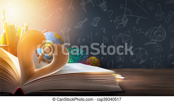 art back to School background; discovery education - csp39340517