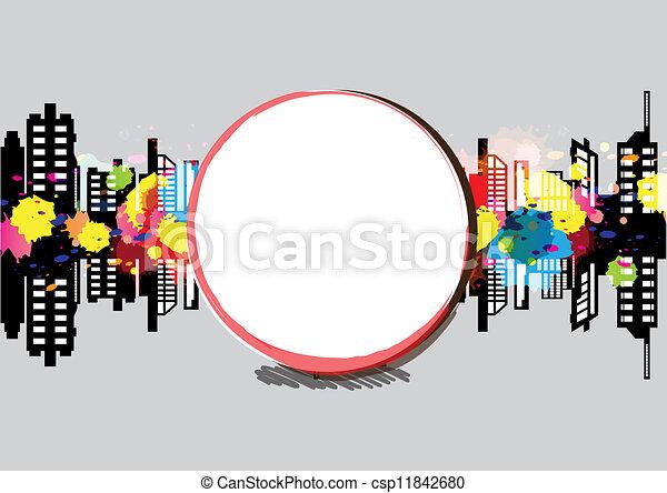 art banner urban design - csp11842680