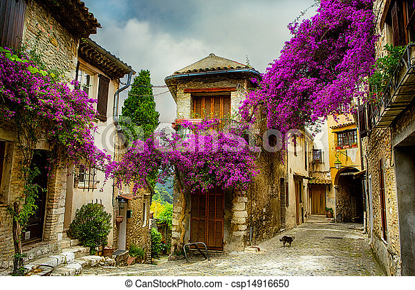 art beautiful old town of Provence - csp14916650