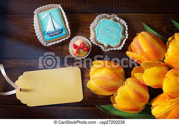 art Birthday greeting card - csp27202239