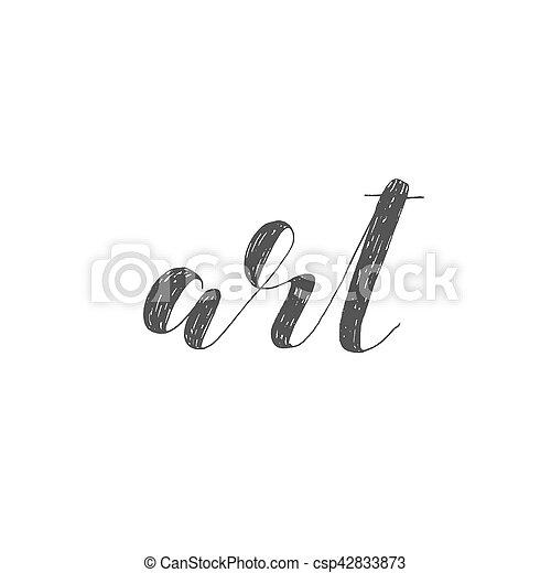 Art. Brush lettering illustration. - csp42833873