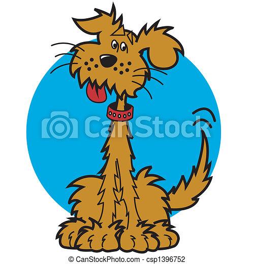 art, chien, agrafe, dessin animé - csp1396752