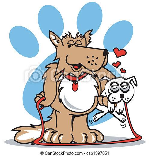 art, chien, agrafe, patte - csp1397051