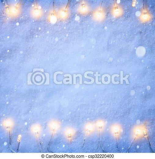 art Christmas blue snow background - csp32220400