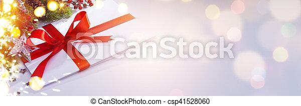 art Christmas decoration; holiday season ornament; greeting card; - csp41528060