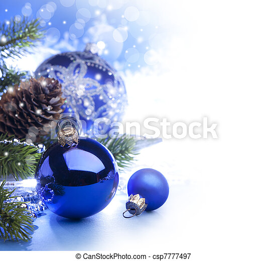 Art Christmas greeting card - csp7777497