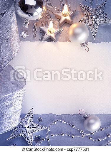 Art Christmas greeting card - csp7777501