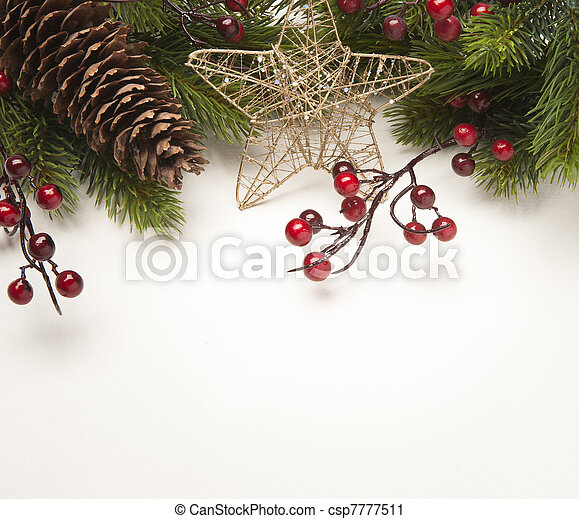 Art Christmas greeting card - csp7777511