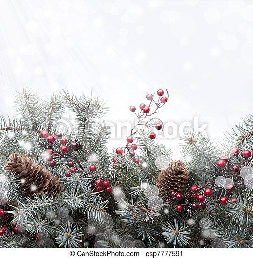 Art Christmas greeting card - csp7777591