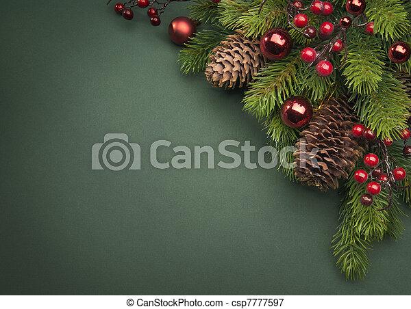 Art Christmas greeting card - csp7777597