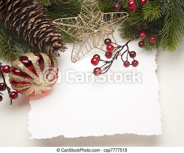 Art Christmas greeting card - csp7777518