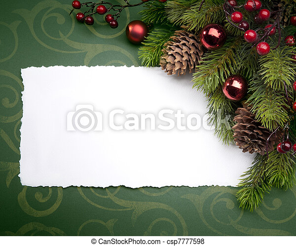 Art Christmas greeting card - csp7777598
