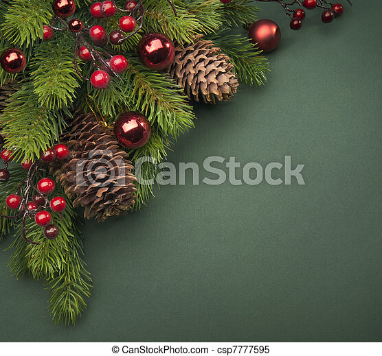 Art Christmas greeting card - csp7777595