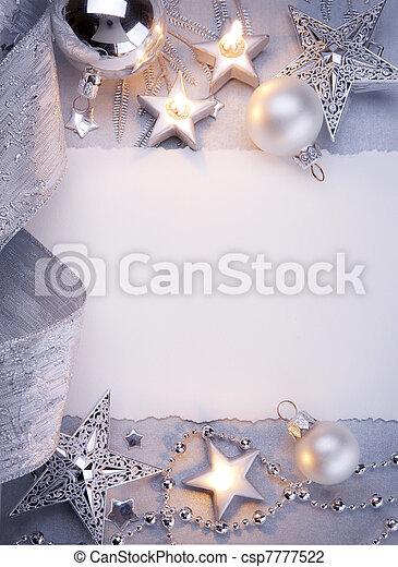 Art Christmas greeting card - csp7777522