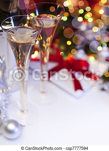 Art Christmas greeting card - csp7777594