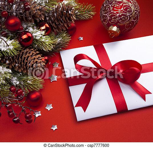 Art Christmas greeting card - csp7777600