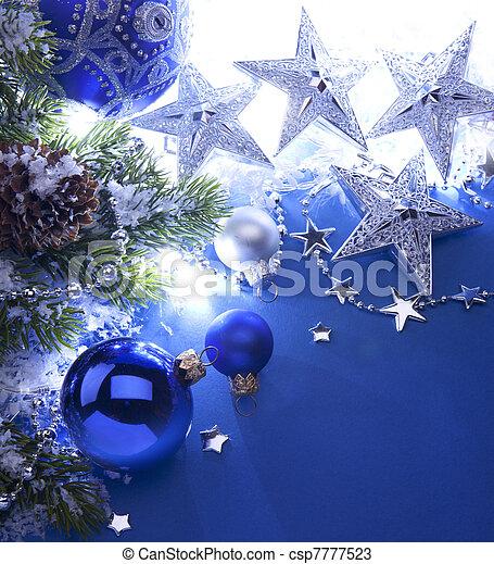 Art Christmas greeting card - csp7777523