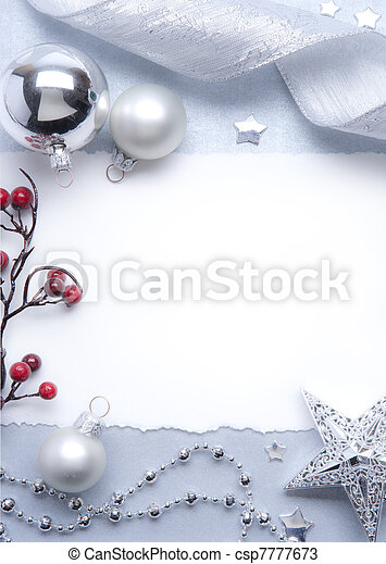 Art Christmas greeting card - csp7777673