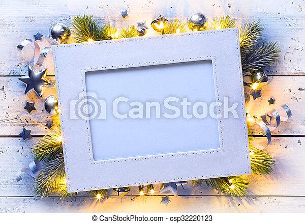 art Christmas holidays frame - csp32220123