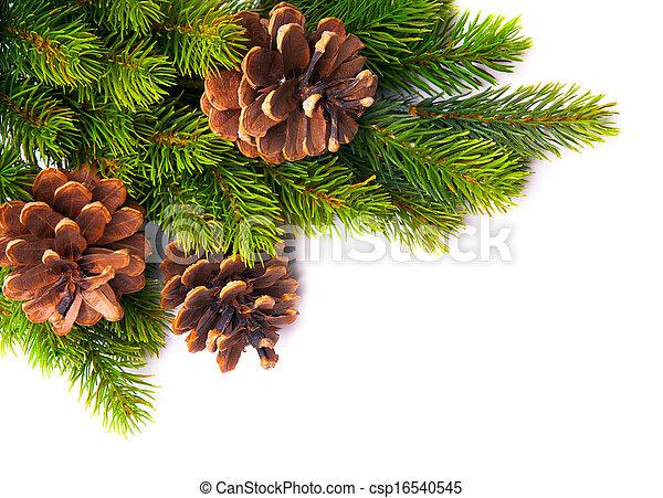 art christmas tree frame  - csp16540545