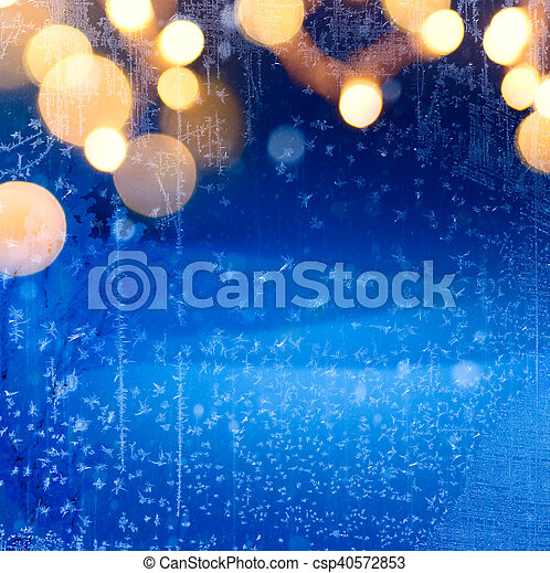 art christmas winter background; snowy landscape - csp40572853