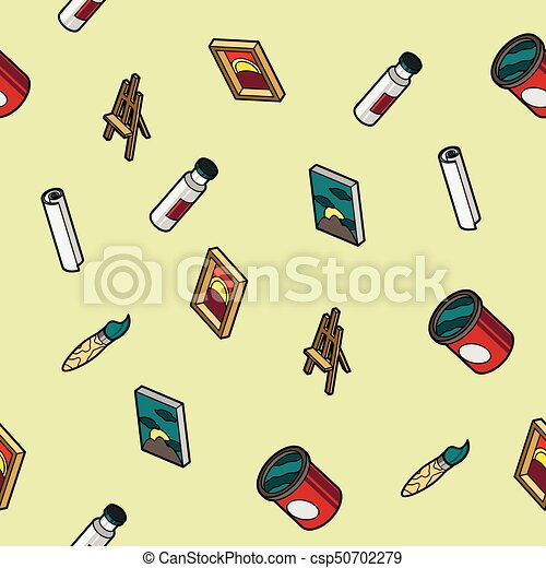 Art color outline isometric pattern - csp50702279
