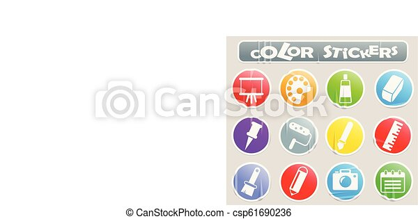 art color stickers - csp61690236