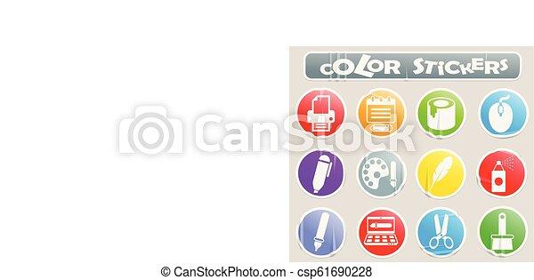 art color stickers - csp61690228