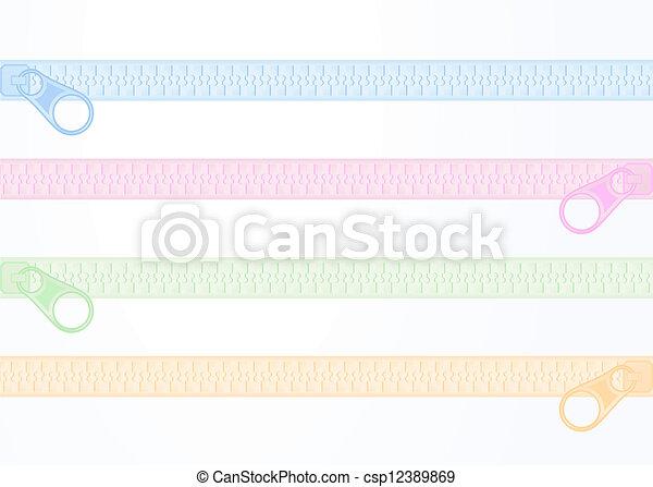 Art color zip - csp12389869