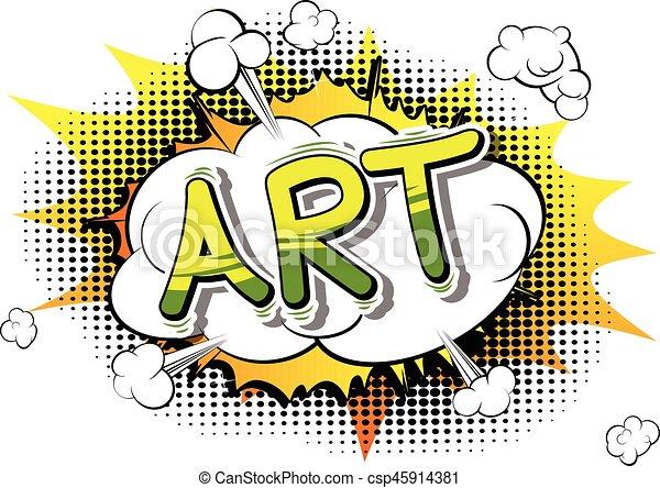 Art - Comic book style word. - csp45914381