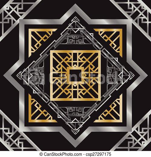 Art deco abstract background vectors illustration search clipart art deco abstract background csp27297175 voltagebd Images