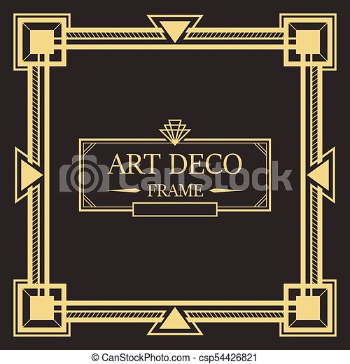 art deco border and frame template art deco border and frame style